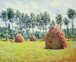 Monet   Haystacks at Giverny, 1884   Giclée Canvas Print