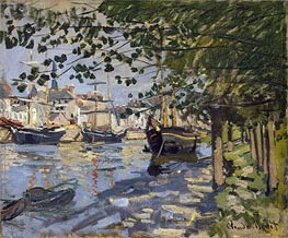 Monet   Seine at Rouen, 1872   Giclée Canvas Print
