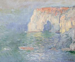 Monet | Etretat: The Manneport, Reflections on the Water, 1885 | Giclée Canvas Print