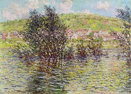Monet | Vetheuil, View from Lavacourt | Giclée Canvas Print