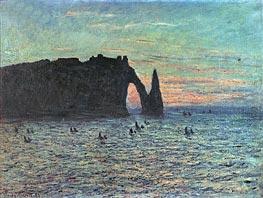 Monet | The Hollow Needle at Etretat, 1883 | Giclée Canvas Print