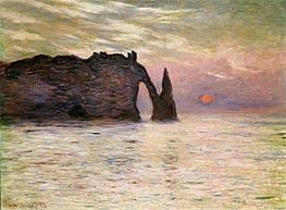 Monet | Falaise d'Etretat, 1883 | Giclée Canvas Print