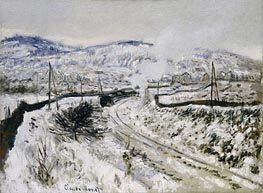 Monet | Train in the Snow at Argenteuil, undated | Giclée Canvas Print