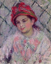 Monet | Portrait of Blanche Hoschede as a Young Girl, c.1880 | Giclée Canvas Print