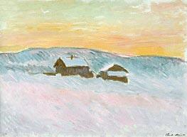 Monet | Norwegian Landscape, Blue Houses | Giclée Canvas Print