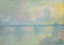 Monet | Charing Cross Bridge, London | Giclée Canvas Print
