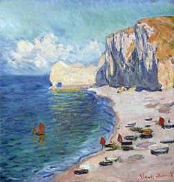 Monet | Etretat: The Beach and the Falaise d'Amont, 1885 | Giclée Canvas Print
