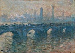Monet | Waterloo Bridge, Gray Weather, 1900 | Giclée Canvas Print