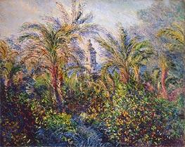 Monet | Garden in Bordighera, Impression of Morning, 1884 | Giclée Canvas Print