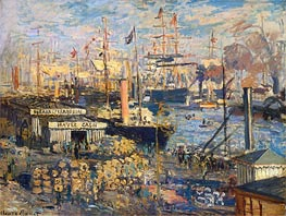 Monet | Grand Quai at Havre, 1872 | Giclée Canvas Print