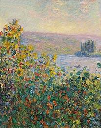 Monet | Flower Beds at Vetheuil, 1881 | Giclée Canvas Print