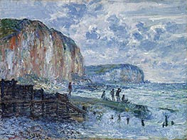 Monet | Cliffs of the Petites Dalles, 1880 | Giclée Canvas Print