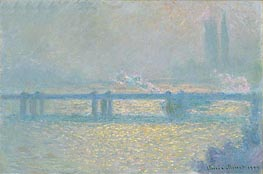 Monet | Charing Cross Bridge (Overcast Day), 1900 | Giclée Canvas Print