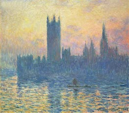 Monet | The Houses of Parliament, Sunset, 1903 | Giclée Canvas Print