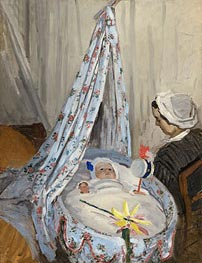 Monet | The Cradle - Camille with the Artist's Son Jean, 1867 | Giclée Canvas Print