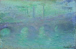 Monet | Waterloo Bridge, London at Dusk, 1904 | Giclée Canvas Print