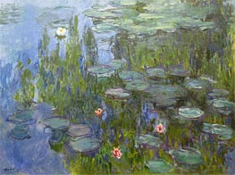 Monet | Water Lilies, c.1915 | Giclée Canvas Print