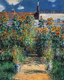 Monet | The Artist's Garden at Vetheuil, 1881 | Giclée Canvas Print