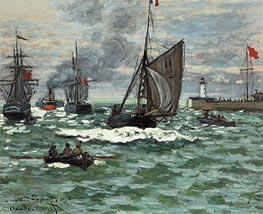 Monet | The Entrance to the Port of Le Havre | Giclée Canvas Print