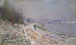 Monet | Tow-Path at Argenteuil, c.1875 | Giclée Canvas Print
