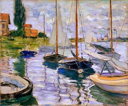 Monet | Sailboats on the Seine, 1874 | Giclée Canvas Print