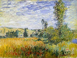 Monet | Landscape at Vetheuil, 1880 | Giclée Canvas Print