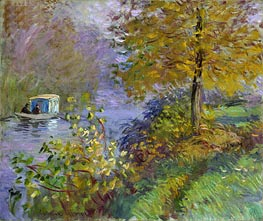 Monet | The Studio Boat, 1875 | Giclée Canvas Print