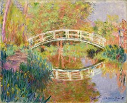 Monet | Japanese Footbridge, Giverny, 1895 | Giclée Canvas Print