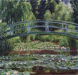 Monet | The Japanese Footbridge and the Water Lily Pool, Giverny, 1899 | Giclée Canvas Print