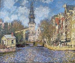 Monet | The Zuiderkerk, Amsterdam (Looking up the Groenburgwal), c.1874 | Giclée Canvas Print
