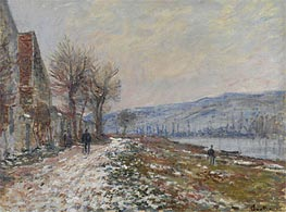 Monet | The Riverbank at Lavacourt, Snow | Giclée Canvas Print