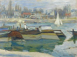 Monet | Barges at Asnieres | Giclée Canvas Print