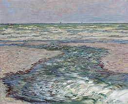 Monet | River at Pourville, Low Tide | Giclée Canvas Print