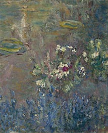 Monet | Water Lilies, 1918 | Giclée Canvas Print