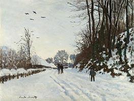 Monet | The Road to the Saint-Simeon Farm in Winter, 1867 | Giclée Canvas Print