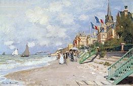 Monet | The Beach at Trouville, 1870 | Giclée Canvas Print