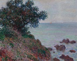 Monet | Coasts of the Mediterranean, Time Gray, 1888 | Giclée Canvas Print