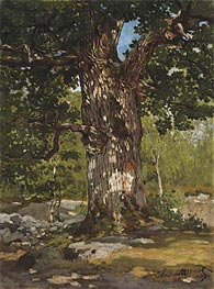 Monet | The Oak at Bas-Breau, Le Bodmer, 1865 | Giclée Canvas Print
