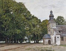 Monet | La Chapelle De Notre-Dame-De-Grace, Honfleur, 1864 | Giclée Canvas Print