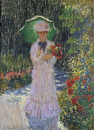 Monet | Camille Monet with Green Umbrella, 1876 | Giclée Canvas Print