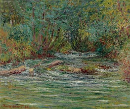 Monet | River Epte at Giverny, Summer, 1884 | Giclée Canvas Print