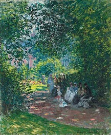 Monet | At the Parc Monceau, 1878 | Giclée Canvas Print