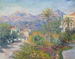 Monet | Strada Romana in Bordighera, 1884 | Giclée Canvas Print