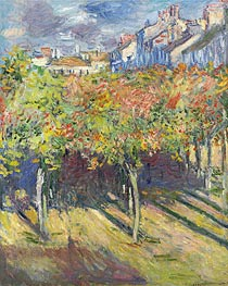 Monet | The Lime Trees in Poissy, 1882 | Giclée Canvas Print