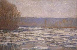 Monet | Break-up of the Ice on the Seine, near Bennecourt, c.1892/93 | Giclée Canvas Print