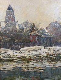 Monet | The Church at Vetheuil, Winter | Giclée Canvas Print