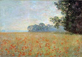 Monet | Oat and Poppy Field, 1890 | Giclée Canvas Print