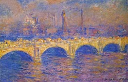 Monet | Waterloo Bridge, Sunlight Effect, 1903 | Giclée Canvas Print