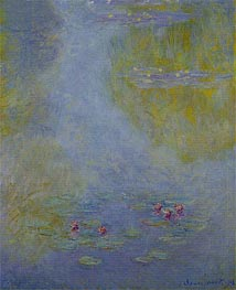 Monet | Water Lilies (Nympheas), 1908 | Giclée Canvas Print