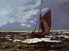Monet | Stormy Seascape, 1867 | Giclée Canvas Print